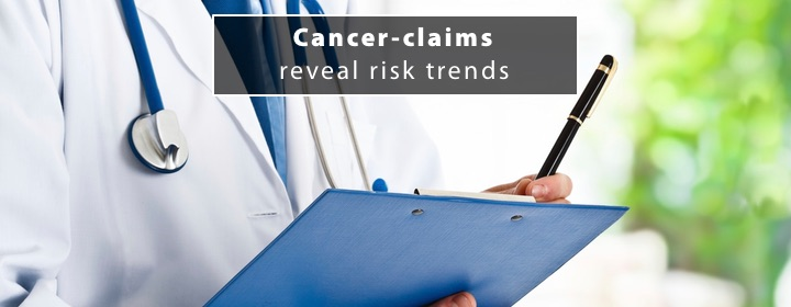 Cancer claims reveal risk trends 1